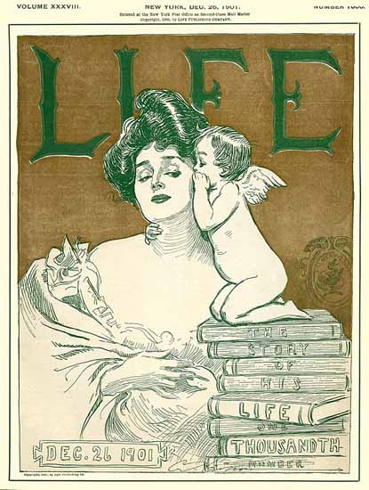 Charles Dana Gibson Life Magazine 1000th Number 1901-12-26 Copyright | Life Magazine Graphic Art Covers 1891-1936