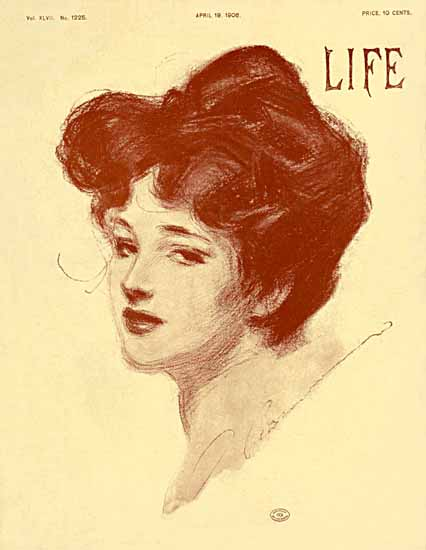 Charles Dana Gibson Life Magazine 1906-04-19 Copyright Sex Appeal | Sex Appeal Vintage Ads and Covers 1891-1970