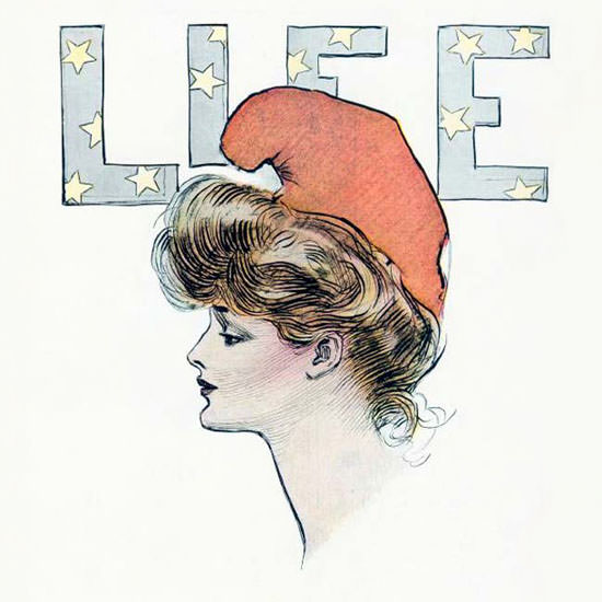Charles Dana Gibson Life Magazine Her Day 1903-07-02 Copyright crop | Best of Vintage Cover Art 1900-1970