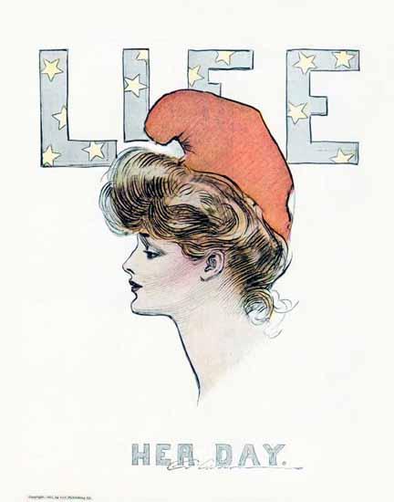 Charles Dana Gibson Life Magazine Her Day 1903-07-02 Copyright | Life Magazine Graphic Art Covers 1891-1936