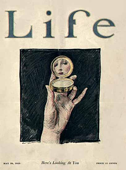 Charles Dana Gibson Life Magazine Looking at You 1925-05-28 Copyright | Life Magazine Graphic Art Covers 1891-1936