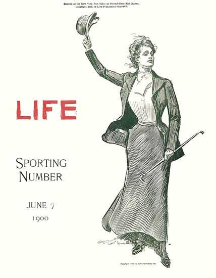 Charles Dana Gibson Life Magazine Sporting 1900-06-07 Copyright | Life Magazine Graphic Art Covers 1891-1936
