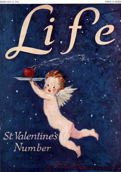 Charles Dana Gibson Life Magazine St Valentine 1923-02-15 Copyright   Life Magazine Graphic Art Covers 1891-1936