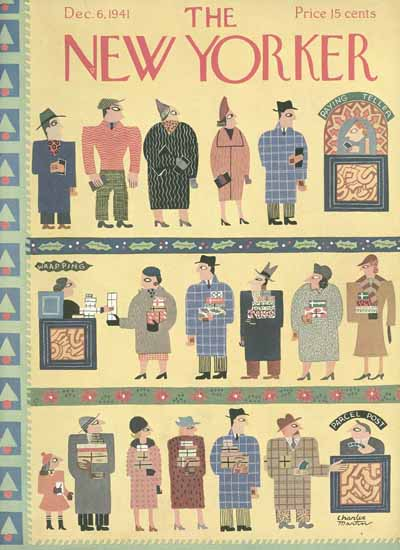 Charles E Martin The New Yorker 1941_12_06 Copyright | The New Yorker Graphic Art Covers 1925-1945