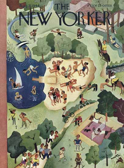 Charles E Martin The New Yorker 1946_08_31 Copyright   The New Yorker Graphic Art Covers 1946-1970
