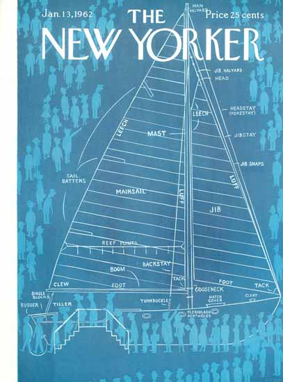 Charles E Martin The New Yorker 1962_01_13 Copyright | The New Yorker Graphic Art Covers 1946-1970