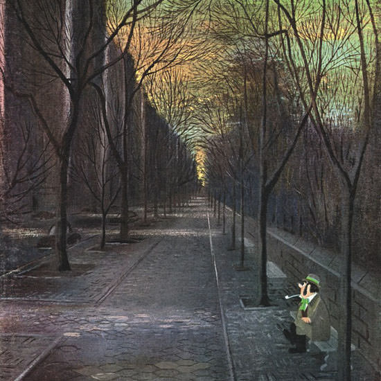 Charles E Martin The New Yorker 1965_03_13 Copyright crop | Best of Vintage Cover Art 1900-1970