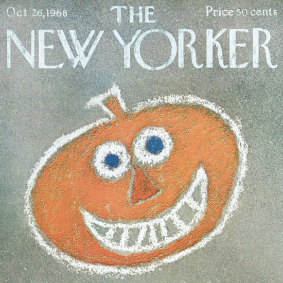 Charles E Martin The New Yorker 1968_10_26 Copyright crop | Best of Vintage Cover Art 1900-1970