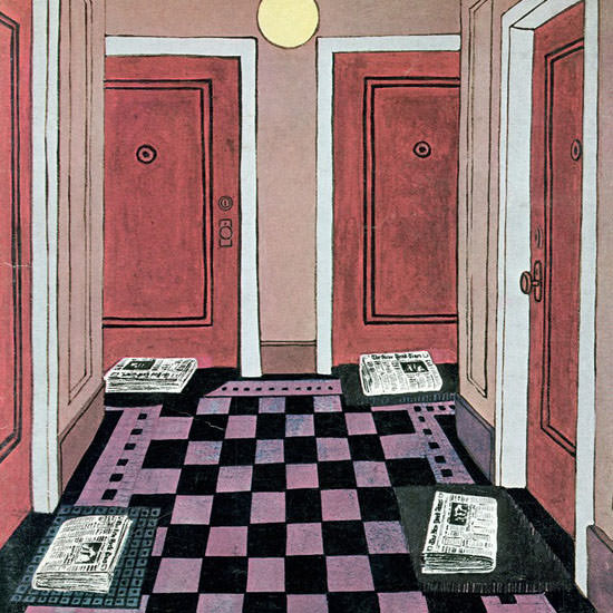 Charles E Martin The New Yorker 1969_11_15 Copyright crop | Best of Vintage Cover Art 1900-1970