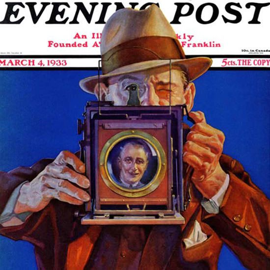 Charles Hargens Saturday Evening Post 1933_03_04 Copyright crop | Best of 1930s Ad and Cover Art