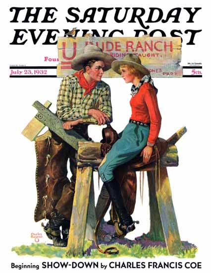 Charles Hargens Saturday Evening Post Dude Ranchers 1932_07_23   The Saturday Evening Post Graphic Art Covers 1931-1969