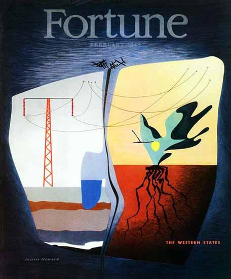 Charles Howard Fortune Magazine February 1945 Copyright | Fortune Magazine Graphic Art Covers 1930-1959