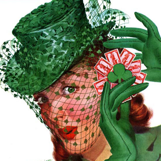 Charles Kaiser Saturday Evening Post Chapeau 1943_03_20 Copyright crop | Best of Vintage Cover Art 1900-1970