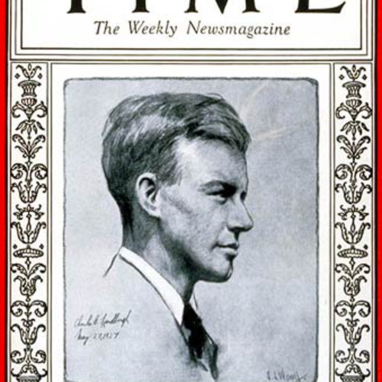Charles Lindbergh Man of the Year Time Magazine 1928-01 crop | Best of 1920s Ad and Cover Art