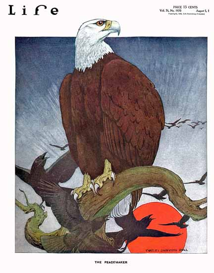 Charles Livingston Bull Life Magazine Peacemaker 1920-08-05 Copyright | Life Magazine Graphic Art Covers 1891-1936