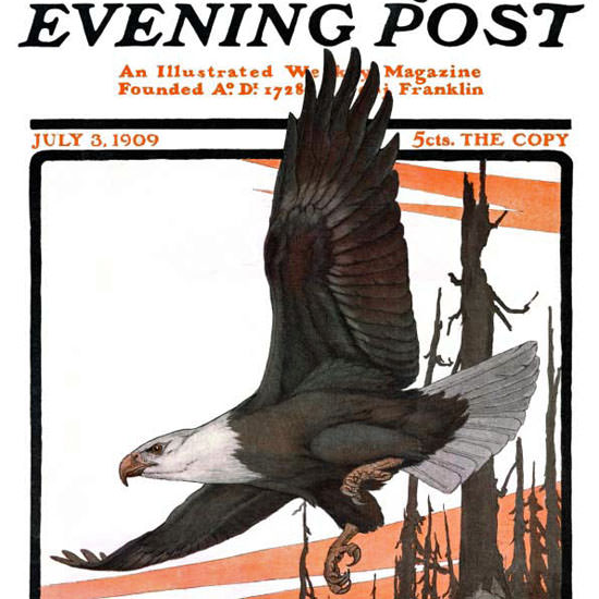 Charles Livingston Bull Saturday Evening Post 1909_07_03 Copyright crop | Best of Vintage Cover Art 1900-1970
