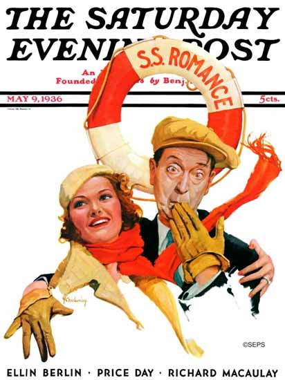 Charles R Chickering Saturday Evening Post SS Romance 1936_05_09 | The Saturday Evening Post Graphic Art Covers 1931-1969