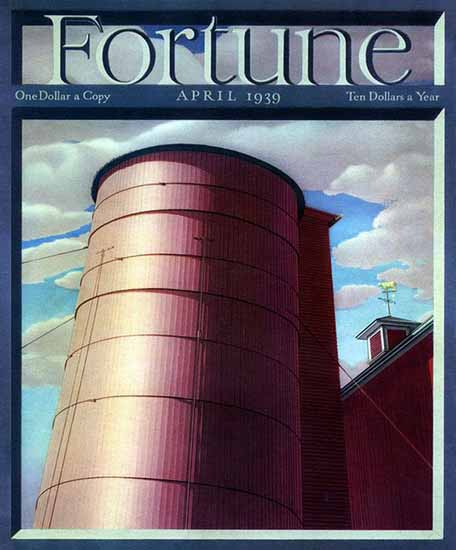 Charles Sheeler Fortune Magazine April 1939 Copyright | Fortune Magazine Graphic Art Covers 1930-1959