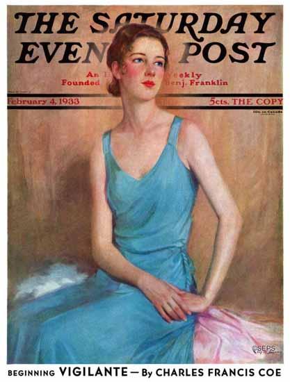 Charles W Dennis Cover Artist Saturday Evening Post 1933_02_04 | The Saturday Evening Post Graphic Art Covers 1931-1969