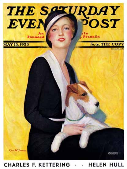 Charles W Dennis Cover Artist Saturday Evening Post 1933_05_13 | The Saturday Evening Post Graphic Art Covers 1931-1969