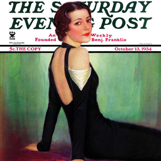 Charles W Dennis Saturday Evening Post 1934_10_13 Copyright crop | Best of Vintage Cover Art 1900-1970