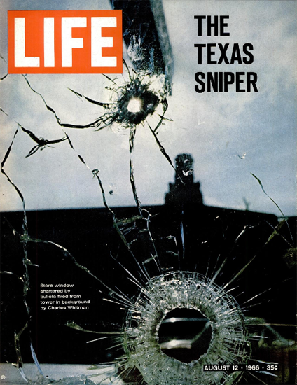 Charles Whitman the Texas Sniper 12 Aug 1966 Copyright Life Magazine | Life Magazine Color Photo Covers 1937-1970