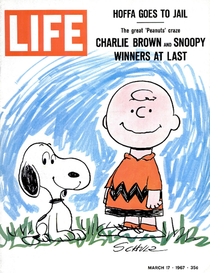 Charlie Brown and Snoopy Peanuts 17 Mar 1967 Copyright Life Magazine | Life Magazine Color Photo Covers 1937-1970