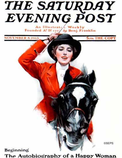 Chase Emerson Cover Artist Saturday Evening Post 1913_11_08 | The Saturday Evening Post Graphic Art Covers 1892-1930