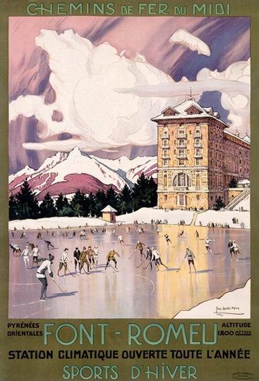 Chemins De Fer Du Midi Font-Romeu G Roux | Vintage Travel Posters 1891-1970