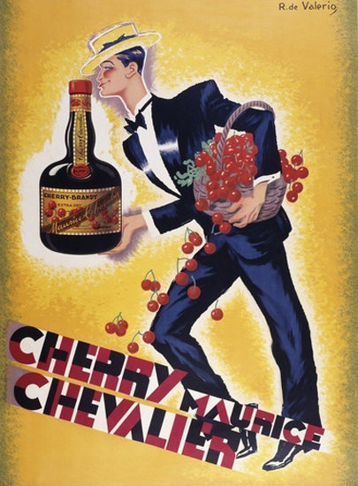 Cherry Maurice Chevalier Cherry Brandy | Vintage Ad and Cover Art 1891-1970