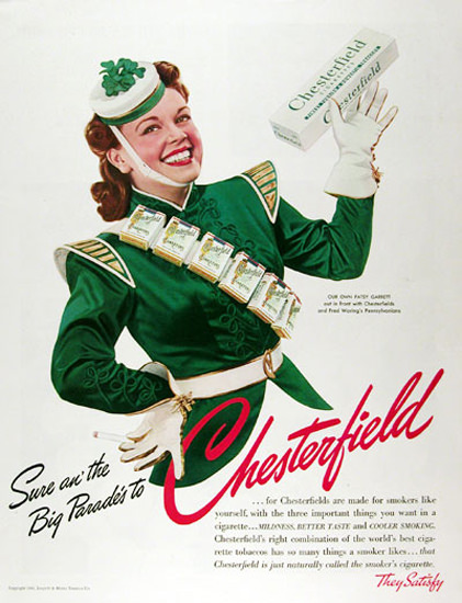 Chesterfield 1941 Patsy Garrett St Patricks Day | Sex Appeal Vintage Ads and Covers 1891-1970