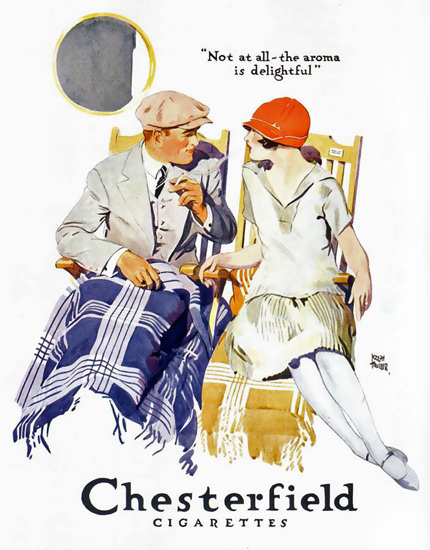 Chesterfield Flirt On Deck Cigarettes 1926 | Sex Appeal Vintage Ads and Covers 1891-1970