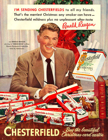 Chesterfield Ronald Reagan To My Friends 1952 | Vintage Ad and Cover Art 1891-1970