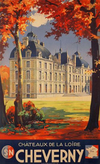 Cheverny Chateau De La Loire 1937 France | Vintage Travel Posters 1891-1970