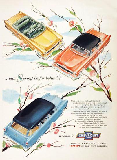 Chevrolet 3 Spring Models 1955 Motoramic | Vintage Cars 1891-1970