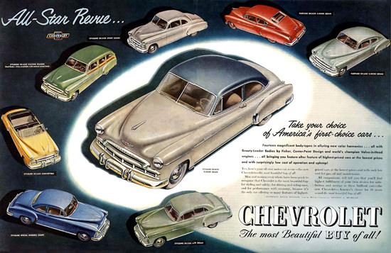 Chevrolet All-Star Revue 8 Models | Vintage Cars 1891-1970