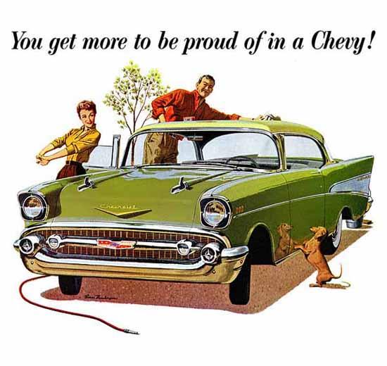 Chevrolet Bel Air 1957 Ad | Vintage Cars 1891-1970