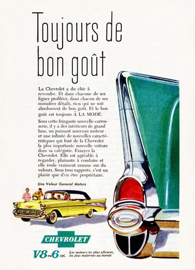 Chevrolet Bel Air Convertible 1957 A La Mode   Vintage Cars 1891-1970