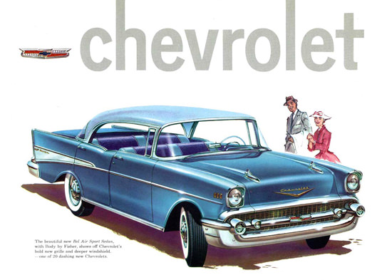 Chevrolet Bel Air Sport Sedan 21 Model 1957 | Vintage Cars 1891-1970