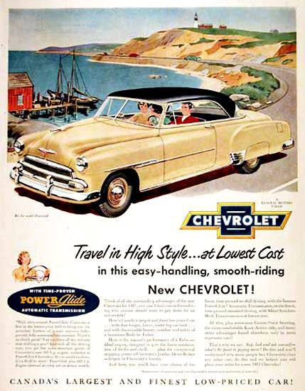 Chevrolet Belair 1951 Cream Power Glide | Vintage Cars 1891-1970