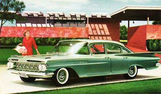Chevrolet Biscayne Sedan 1959 Green | Vintage Cars 1891-1970