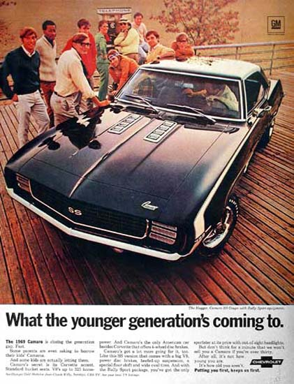 Chevrolet Camaro SS 1969 Younger Generations | Vintage Cars 1891-1970