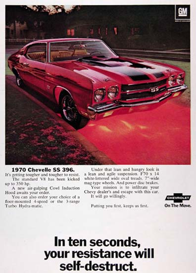 Chevrolet Chevelle 396 SS 1970 Your Resistance | Vintage Cars 1891-1970