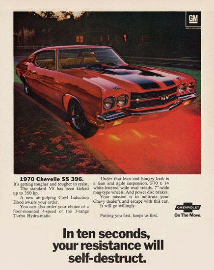 Chevrolet Chevelle SS 396 Sport 350 HP 1970 | Vintage Cars 1891-1970