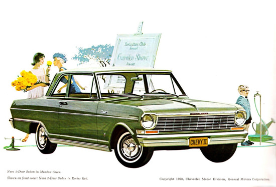 Chevrolet Chevy II Nova 2 Door Sedan 1963 | Vintage Cars 1891-1970