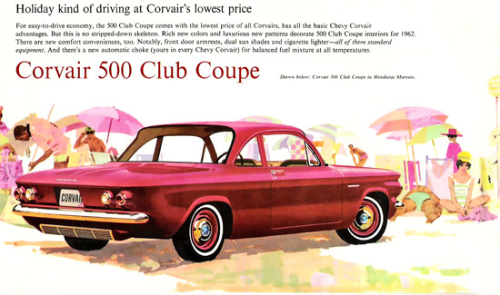Chevrolet Corvair 500 Club Coupé 1962 Holiday | Vintage Cars 1891-1970