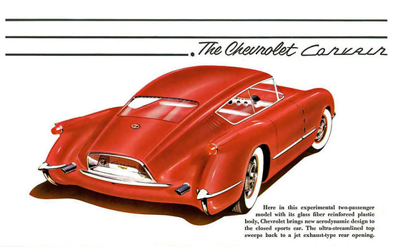 Chevrolet Corvair Red Glass Fiber Body 1954 | Vintage Cars 1891-1970