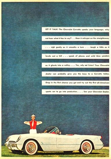 Chevrolet Corvette 1954 Speeks Your Language | Vintage Cars 1891-1970