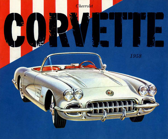 Chevrolet Corvette 1958 Silver Red Blue | Vintage Cars 1891-1970