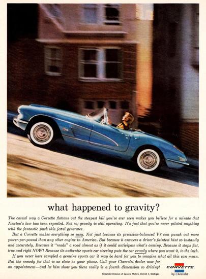 Chevrolet Corvette 1960 San Francisco Gravity | Vintage Cars 1891-1970
